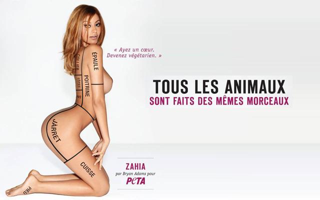 PETA nous explique Zahia
