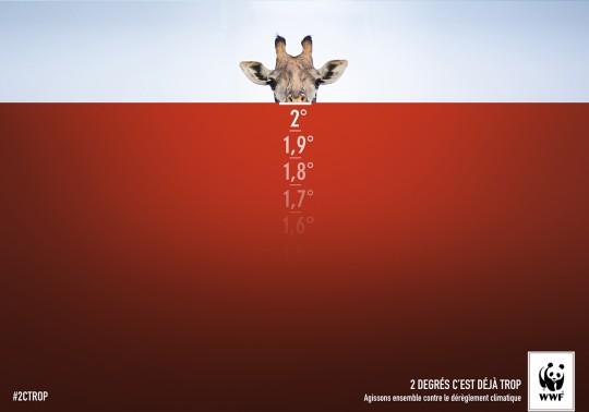 GIRAFE - campagne WWF/pubicis Nurum- Le jour sans pub