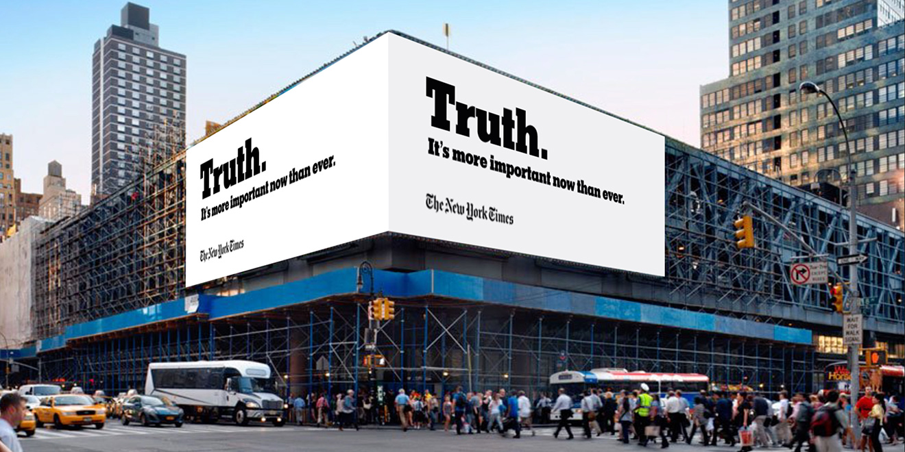 La vérité est un dur métier, mais c'est celui du New York Times