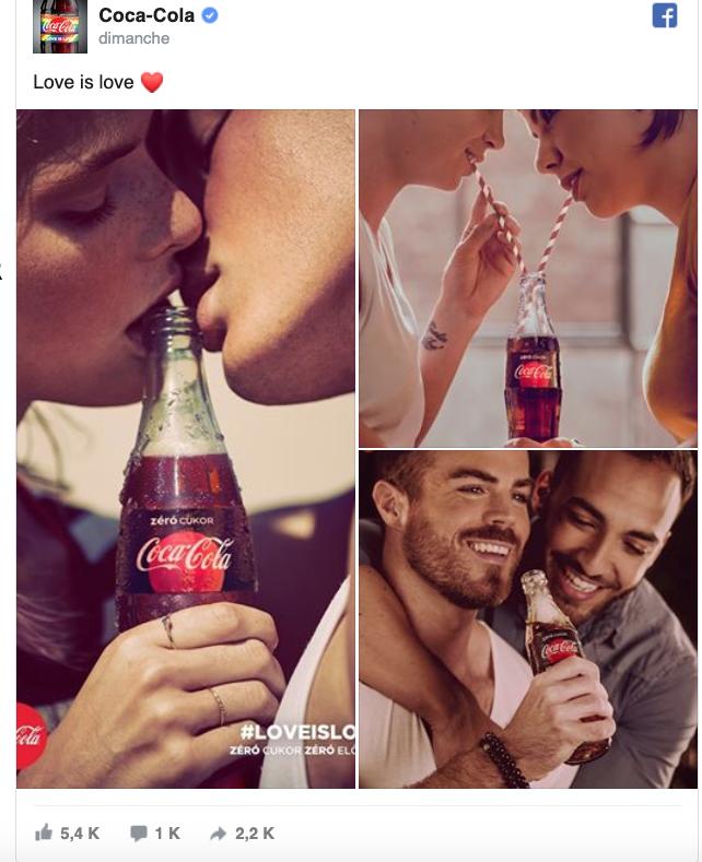 Coca-Cola affiche des couples homo et se fait boycotter en Hongrie.