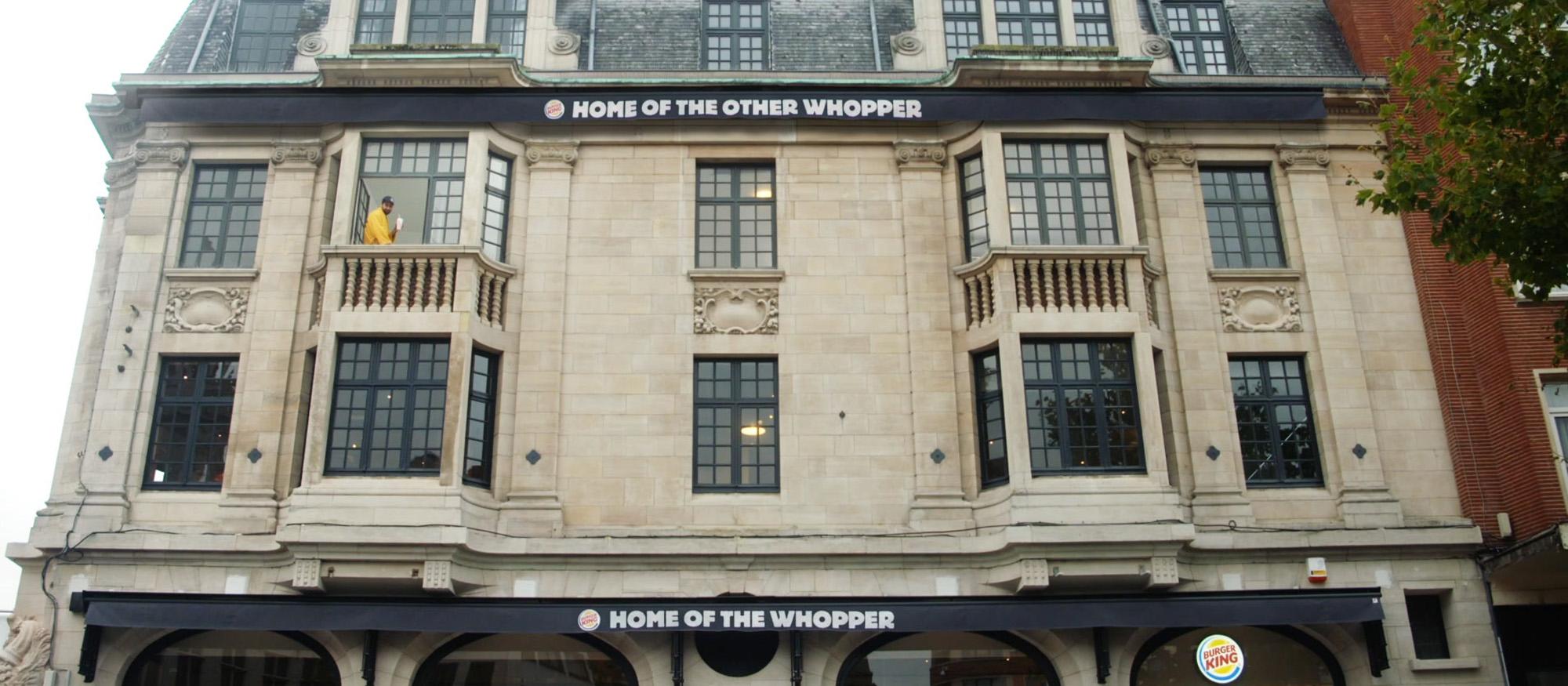 69 mètres carrés de Whopper !